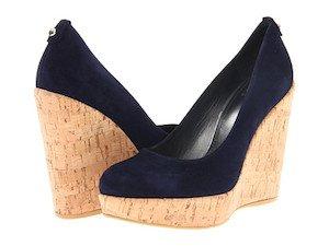 wedge espadrilles, navy espadrille wedges, cork wedge shoes, cork wedge platform, blue cork wedge