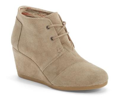 toms wedge heels, toms desert wedge, toms wedge shoes, toms wedge boots, toms women's wedges