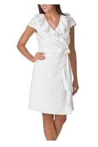 White Full-wrap Linen Dress | White Dresses for Women