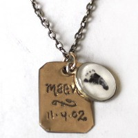 Page with Tiny Photo Necklace