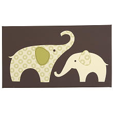Affordable Carter's Green Elephant Canvas Wall Art