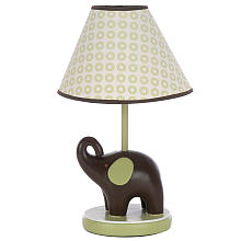 Carter's Green Elephant Lamp Base & Shade