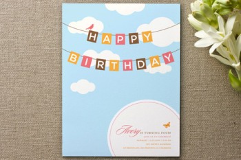 Blueskies Children's Birthday Party Invitation