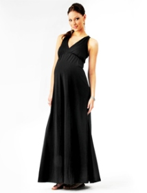 Loved By Heidi Klum Sleeveless Crochet Detail Maternity Maxi Dress