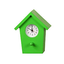 Tweeting Birdhouse Shaped Alarm Clock - Green