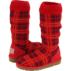 UGG Kids Plaid Knit Boots