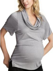Gap Maternity Cowlneck short-sleeved T