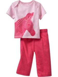 Graphic 2-Piece Sets for Baby Zebra