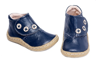 Livie and Luca London Boot Navy Baby Shoes