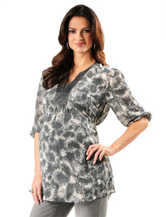 Loved By Heidi Klum Sleeve Shirring Detail Maternity Tunic