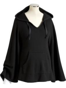 Maternity Hooded French Terry Ponchos
