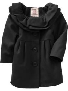 Ruffled Wool-Blend Coats for Baby