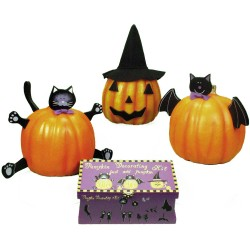 Pumpkin Decorating Kit in Wooden Box