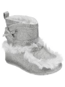 Glitter Faux-Shearling Booties for Baby