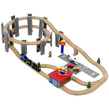 Imaginarium Wooden Spiral Train Set