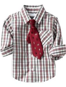 Shirt and Tie for Baby Red