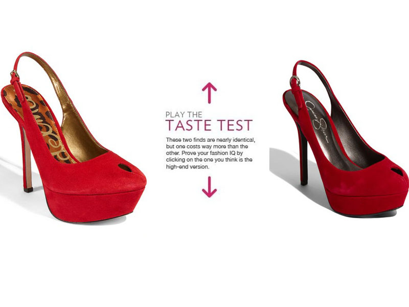 8c2fcba32b1d56 Can You Tell Which Red Platform Pumps Are Sam Edelman and Which Are Jessica  Simpson