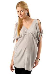 Lavish by Heidi Klum Short Sleeve Sleeve Detail Maternity Tunic