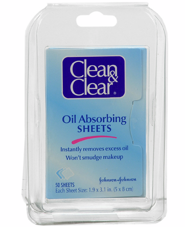 Clean & Clear Oil Absorbing Sheets For Face