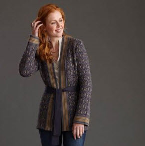 Tea Collection Vaci Jacquard Cardigan