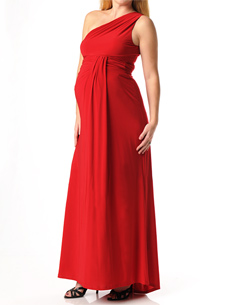 ABS Collection Sleeveless Drape Front Maternity Dress
