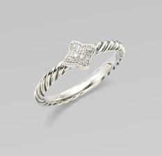 David Yurman Diamond & Sterling Silver Quad Ring