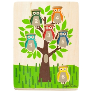 DwellStudio Kids Wooden Puzzle Owls