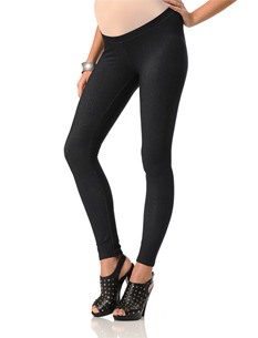 Lavish By Heidi Klum Pull On Style Jersey Knit Stretch Fabric Slim Leg Maternity Legging