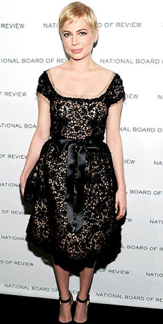 Or in an all-over lace dress?