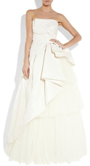 Alberta Ferretti Silk-radzmir strapless gown