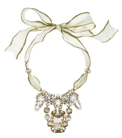 Bijoux Heart Deco Blanc 24-karat gold-plated necklace