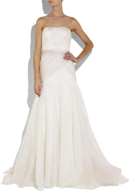 Lela Rose Strapless silk-gazar gown