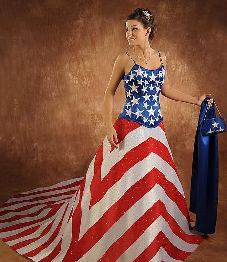 Worst Wedding Dresses Patriotic Wedding Dresses