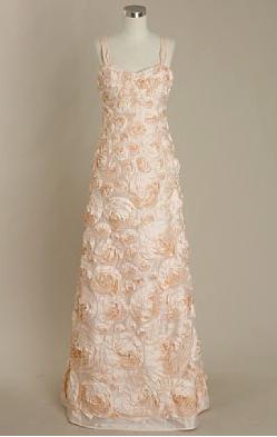 Silk dupioni rosette gown
