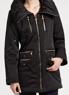 Puffy Collar Coat