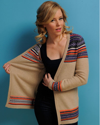 Live From Sundance: Elizabeth Banks Shows Off Her Fair Isle Sweater