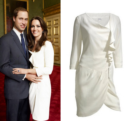 kate middleton dress engagement dress. Kate Middleton Reiss Dress