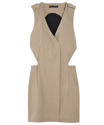Alexander Wang Canvas Cut Out Dress