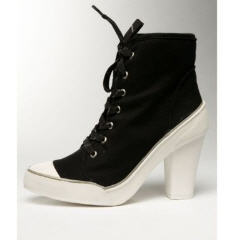 Bebe Black Alexis Sneaker High Heel Bootie