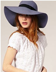 Blue Wool Floppy Hat