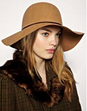 Camel Wool Floppy Hat