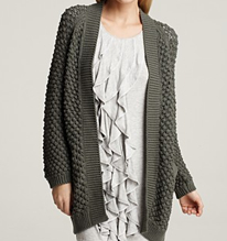 Design History Cable Pointelle Cocoon Sweater