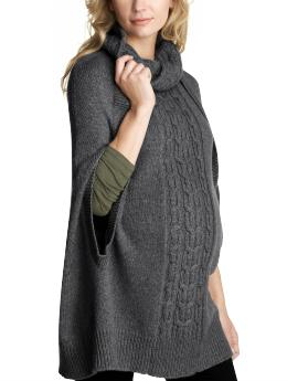 GapMaternity Cable knit poncho