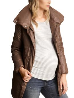 GapMaternity Long puffer coat