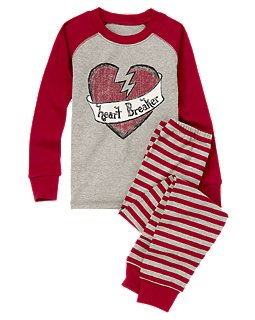 Gymboree Heart Breaker Two-Piece Pajamas