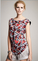 Kinder Aggugini for Macy's Floral Top