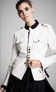Kinder Aggugini for Macy's Linen Military Jacket