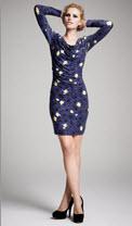 Kinder Aggugini for Macy's Printed Navy Dress
