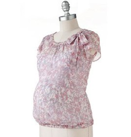 Oh Baby by Motherhood Floral Georgette Top