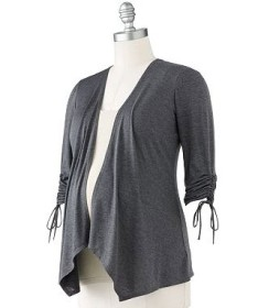 Oh Baby by Motherhood Ruched Open-Front Cardigan